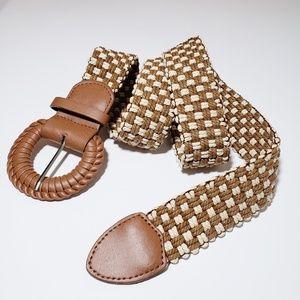 Accessories - Brown/ Cream Woven Belt Boho Vibes